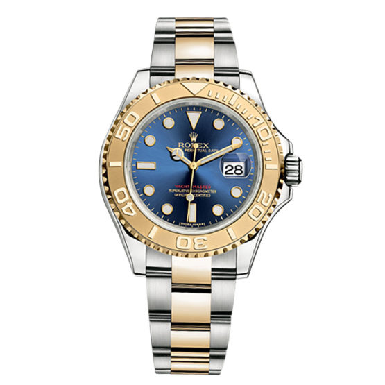 Rolex Yachtmaster Blue Index Dial Oyster Bracelet Men's Watch 16623BL