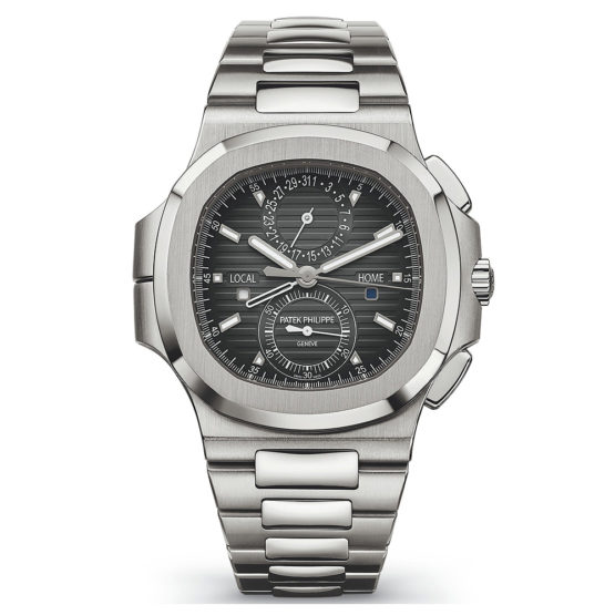 Patek Philippe Nautilus Travel Time Chronograph Stainless Steel Automatic Men's Watch 5990-1A-001