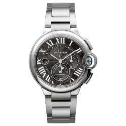 Cartier Ballon Bleu Black Dial Chronograph Mens Watch W6920025