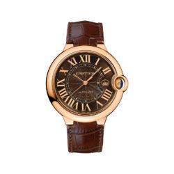 Cartier Ballon Bleu Brown Dial 18kt Rose Gold Case Automatic Mens Watch W6920037