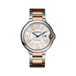 Cartier Ballon Bleu De Cartier Silver Dial Stainless Steel and 18kt Pink Gold Watch W6920095