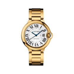 Cartier Ballon Bleu Medium 18k Yellow Gold Watch W69003Z2