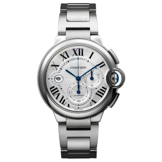 Cartier Ballon Bleu Silver Dial Chronograph Mens Watch W6920002