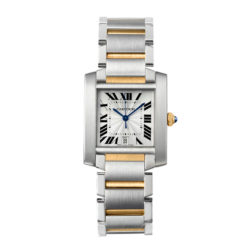 Cartier Tank Francaise 18kt Yellow Gold and Steel Mens Watch W51005Q4