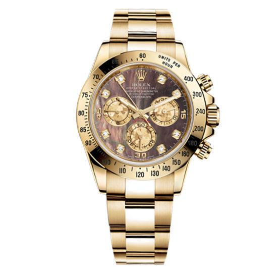 Rolex Cosmograph Daytona dark mother of pearl Dial 18kt Yellow Gold Men's Watch 116528dkym