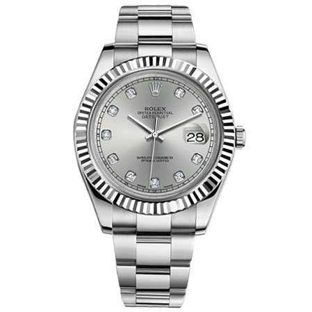 watch index rolex silver unisex bracelet dial oyster product datejust