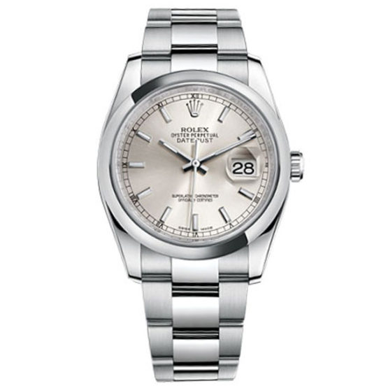 Rolex Datejust Silver Index Dial Oyster Bracelet Unisex Watch 116200SSO