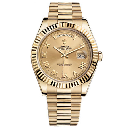 bacdb08819a Rolex Day-date II Champagne Automatic 18kt Yellow Gold Mens Watch for sale  | Mio Watches & Jewelry