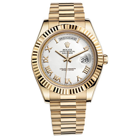 91ee360f35ba Rolex Day-Date II White Dial Automatic Yellow Gold President Mens Watch for  sale
