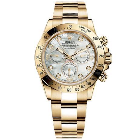 Rolex Daytona Mother of Pearl Diamond Dial Oyster Bracelet Mens Watch 116528MDO