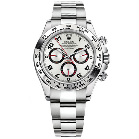 Rolex Daytona Silver Arabic Dial Oyster Bracelet 18k White Gold Mens Watch 116509SAO