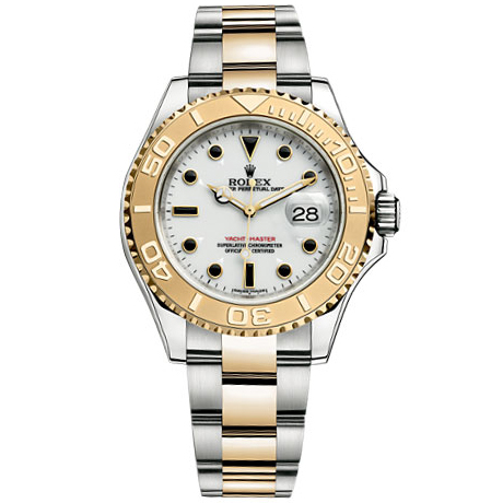 Rolex Yachtmaster White Index Dial Oyster Bracelet Two Tone Mens Watch 16623WSO