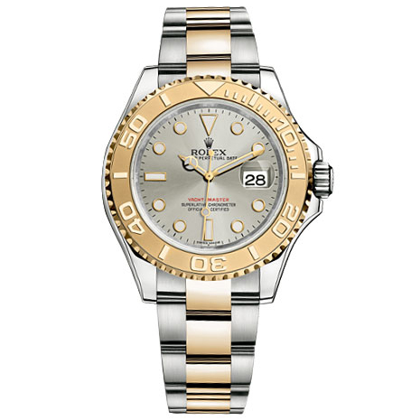 Rolex Yacht Master Grey Dial Automatic Steel and 18kt Yellow Gold Oyster Mens Watch 16623GSO