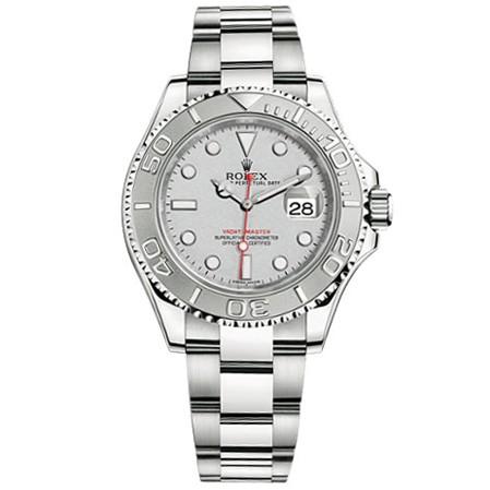 Rolex Yacht-Master Platinum Dial Steel and Platinum Mens Watch 116622PLS