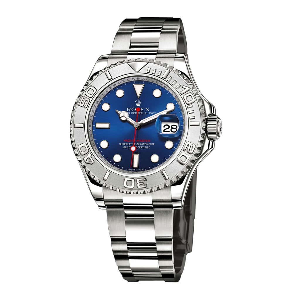 Stainless-Steel-Platinum-Yacht-Master-Cobalt-Blue-Sunray-Dial-40mm-Reference-116622-