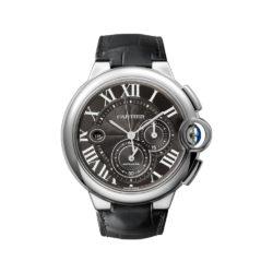 Cartier Ballon Bleu Black Dial Chronograph Mens Watch W6920052