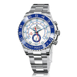 Rolex Yacht Master II White Dial Blue Bezel Automatic Mens Watch 116680
