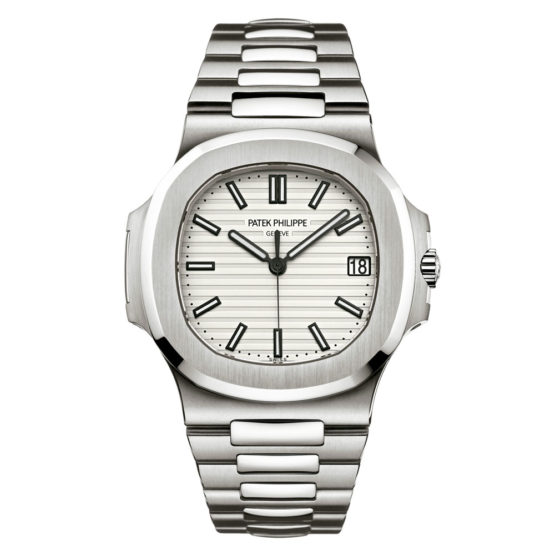 Patek Philippe Nautilus Silvery White Dial Stainless Steel Mens Watch 5711-1A-011