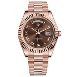 Rolex Day-Date II President Pink Gold - Fluted Bezel 218235brrp Watch