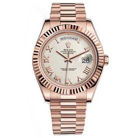 bd889ee5b0b Rolex Watches Day-Date II President Pink Gold – Fluted Bezel Ivory 218235