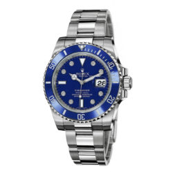 Rolex Submariner Gold Blue Automatic 18kt White Gold Oyster Mens Watch 116619BLD