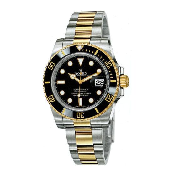 Rolex Submariner Black Index Dial Oyster Bracelet Mens Watch 116613BK