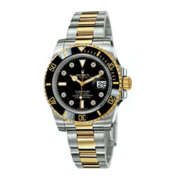 Rolex Submariner Black Dial Stainless Steel and 18K Yellow Gold Bracelet Mens Watch 116613BKD