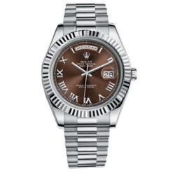 Rolex Day-Date II President White Gold - Fluted Bezel 218239 brrp Watch