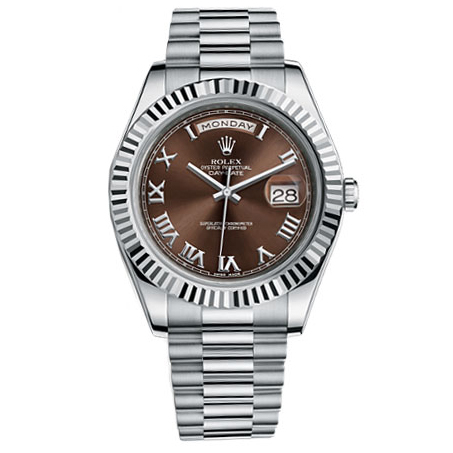 Rolex Watch Day-Date II President White Gold - Fluted Bezel 218239 brrp