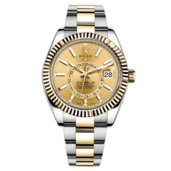 Rolex Sky-Dweller 326933 Champagne Dial Automatic 18kt Yellow Gold Oyster Watch