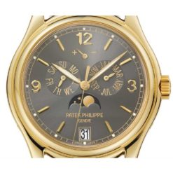 Patek Philippe Complications Grey Dial 18kt Yellow Gold Mens Watch 5146J-010