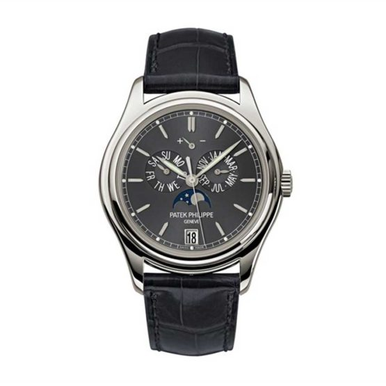 Patek Philippe Complications Automatic Moonphase Black Dial Mens Watch 5146P-001
