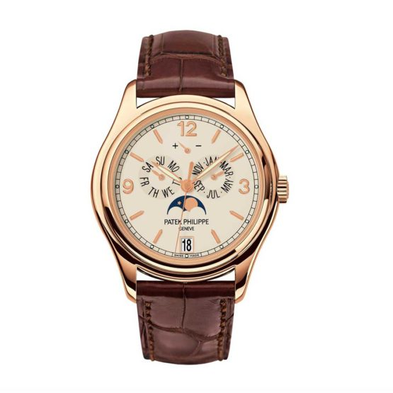 Patek Philippe Complications Moonphase Automatic 18 kt Rose Gold Mens Watch 5146R-001