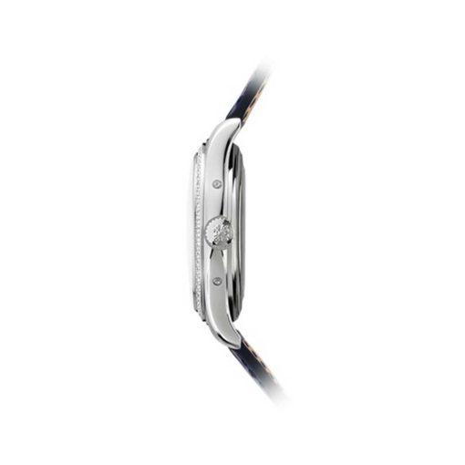 Patek Philippe Complications Annual Calendar Blue Dial 18kt White Gold Diamond Blue Leather Mens Watch 5147G-001