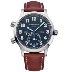 Patek Philippe 5524G-001 Calatrava Pilot Travel Time Blue Dial Automatic Men's Watch