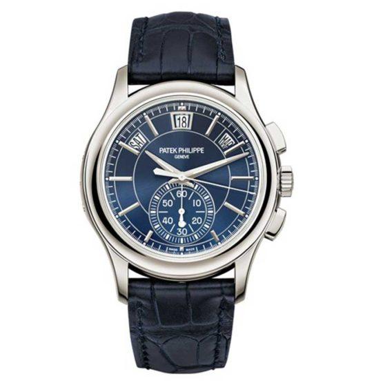 Patek Philippe Complications Blue Dial Annual Calendar Platinum Mens Watch 5905P-001