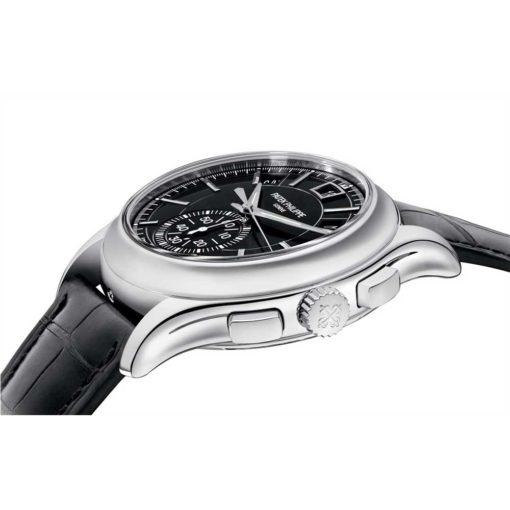 Patek Philippe Complications Black Dial Annual Calendar Platinum Mens Watch 5905P-010