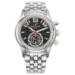 Patek Philippe Grand Complications Chronograph Black Dial Stainless Steel Mens Watch 5960-1A-010