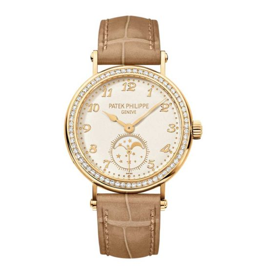 Patek Philippe Complications Monnphase Gold Ladies Watch 7121J
