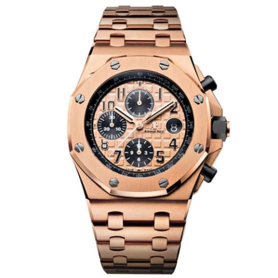 Audemars Piguet Royal Oak Offshore Chronograph Pink Gold Watch 26470OR.OO.1000OR.01