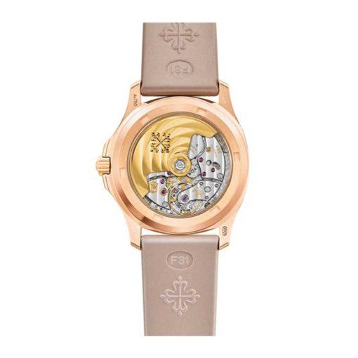 Patek PhilIppe Aquanaut Geneve 18kt Rose Gold Diamond Case Ladies Watch 5062/450R-001
