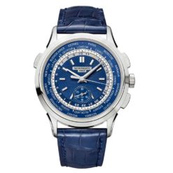 Patek Philippe Complications Blue Dial Automatic Mens 18K White Gold Watch 5930G-001