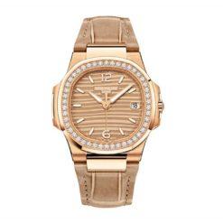Patek Philippe Nautilus 18K Rose Gold Diamond Ladies Watch 7010R-012