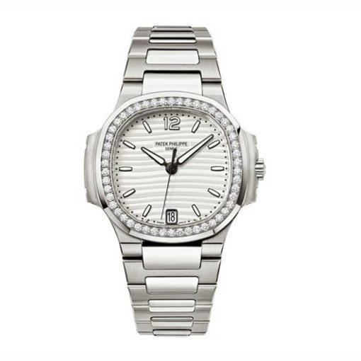 Patek Philippe Nautilus Diamond Stainless Steel Ladies Watch 7018-1A-001