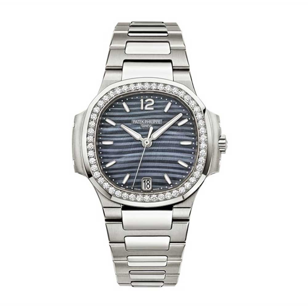 Patek Philippe Nautilus Blue Tinted Mother Of Pearl Dial Automatic