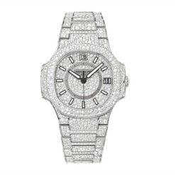 Patek Philippe 7021/1G-001 Nautilus Lady White Gold Full Pavé Diamonds