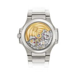 Patek Philippe Nautilus Blue Tinted Mother Of Pearl Dial Automatic Ladies Diamond Watch 7018/1A-010