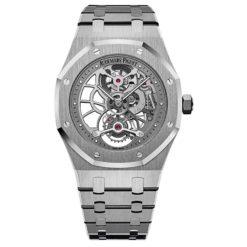 AUDEMARS PIGUET Royal Oak Tourbillon Extra-thin Openworked 26518ST.OO.1220ST.01 Stainless Steel Watch