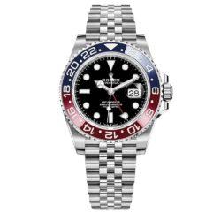 Rolex GMT Master II Black Dial Stainless Steel Mens Watch 126710BLRO