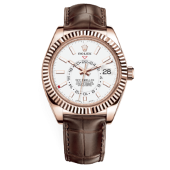 Rolex Sky-Dweller 326135WDL White Dial Automatic 18kt Everose Watch